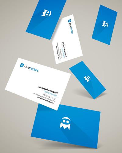 Cartes de Visite Bluecoders